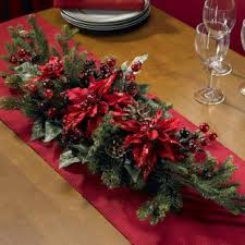 dining room christmas flowers