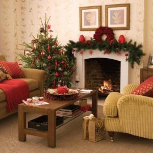 livingroomchristmasflowers