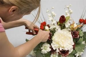 florist arranging flowers