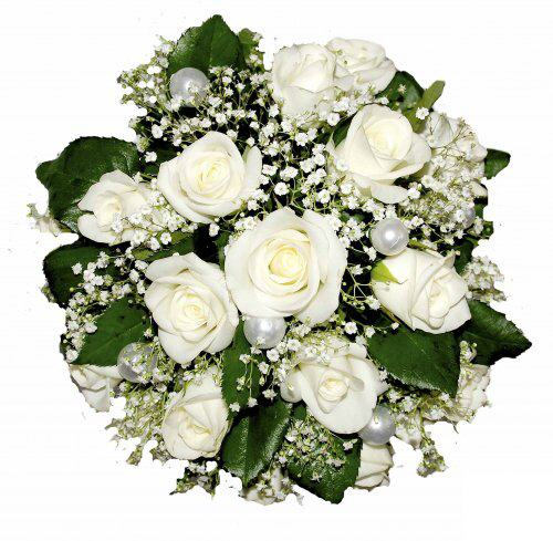 Summer wedding flowers theflowerpost bouquet of white roses and babys breath junglespirit Images